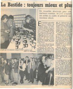 1988 - Centre d'aide par le travail (CAT) La Bastide