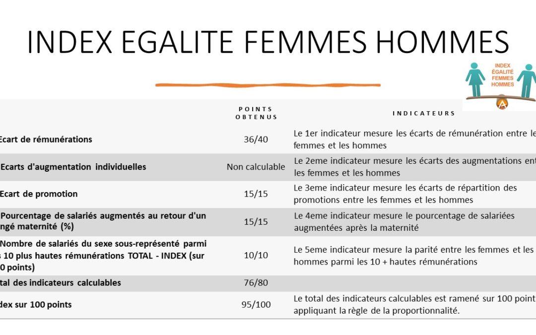 INDEX EGALITE FEMMES – HOMMES